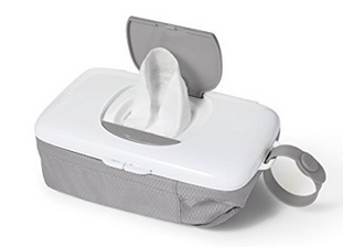 Nothing is worse than finding dry wipes at the bottom of your bag – these keep the wipes intact and you can store diapers too so you don't need to lug a whole diaper bag to a tiny, icky bathroom with a wriggly child