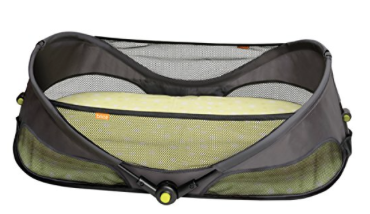 For an itty bitty baby! Pros: it folds up, comes with a pad and a sheet