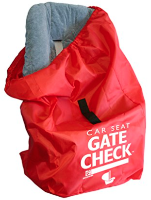 Be sure to get a big red bag that you can use at Gate check – also a good place to store extra things like blankets, jackets, diapers etc